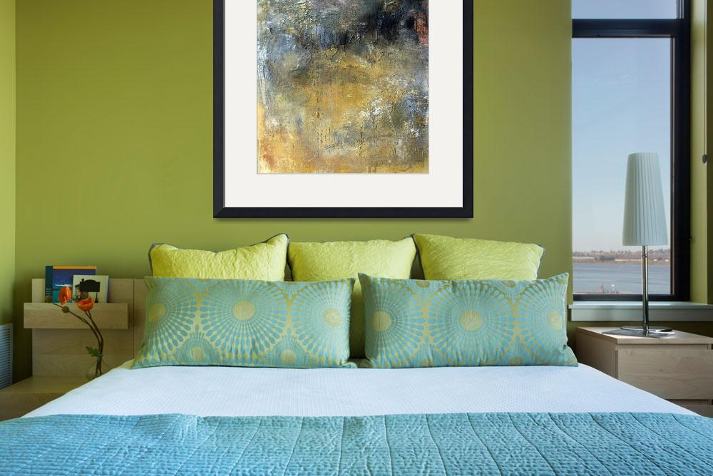 """""""ORL-7395-1 The Vibrant Hues in Grey and yellow&quot  by Aneri"""
