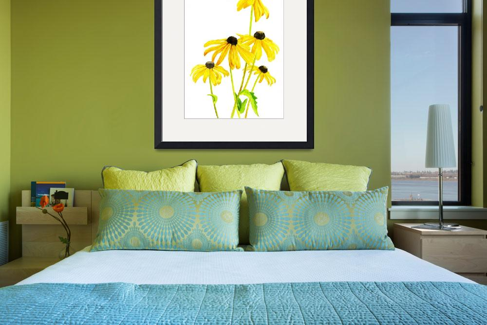 """Yellow Black Eyed Susan""  (2013) by Pacific-NW-Watercolors"