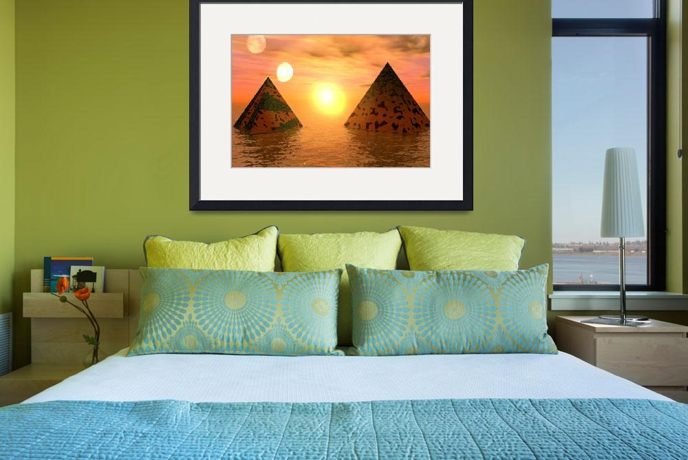 """Waterworld pyramids""  (2009) by bishe"