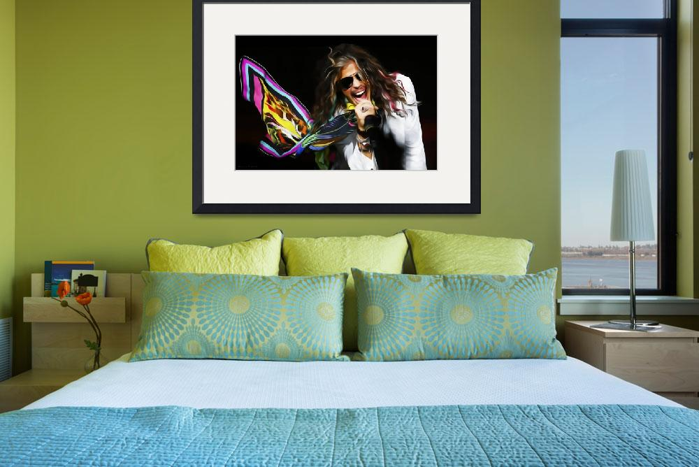 """Aerosmith Steven Tyler Painting&quot  (2014) by netbrands"