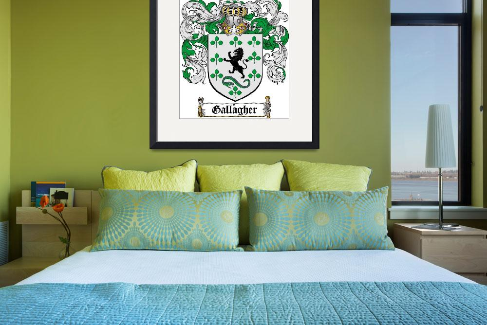 """""""GALLAGHER FAMILY CREST - COAT OF ARMS&quot  by coatofarms"""