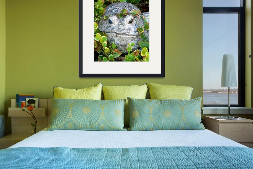 """""""Froggy in the Garden P1090790&quot  (2010) by rayjacque"""