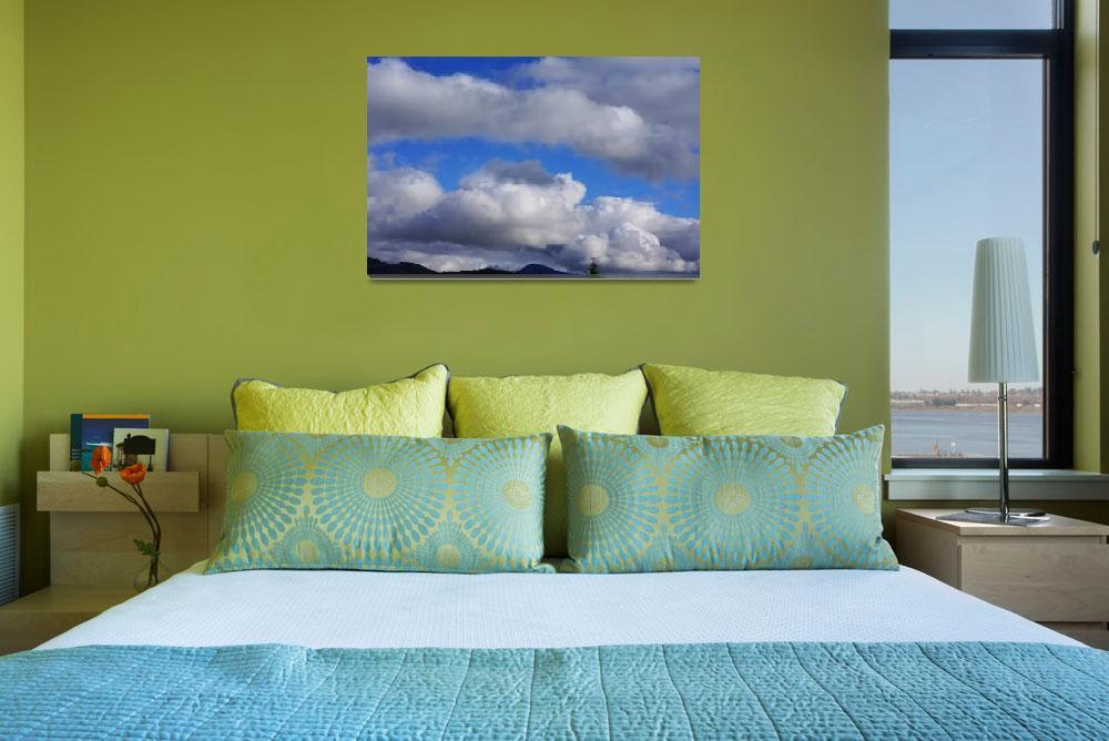 """Blue Sky Art Prints Weather Storm Clouds&quot  (2014) by BasleeTroutman"