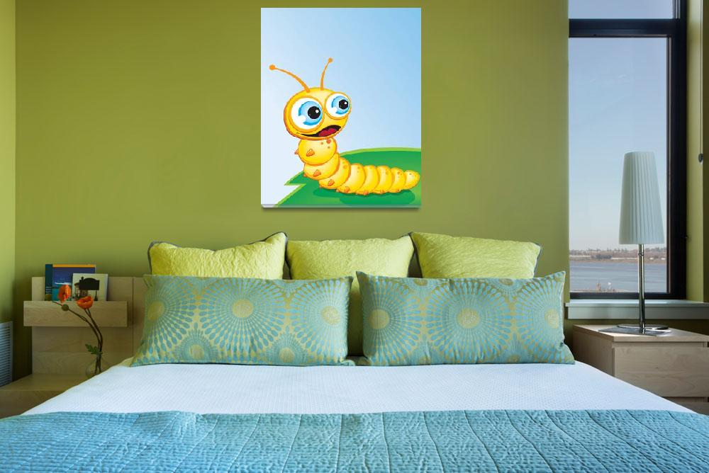 """""""Critter-Caterpillar-yellow&quot  (2008) by edgeplus"""