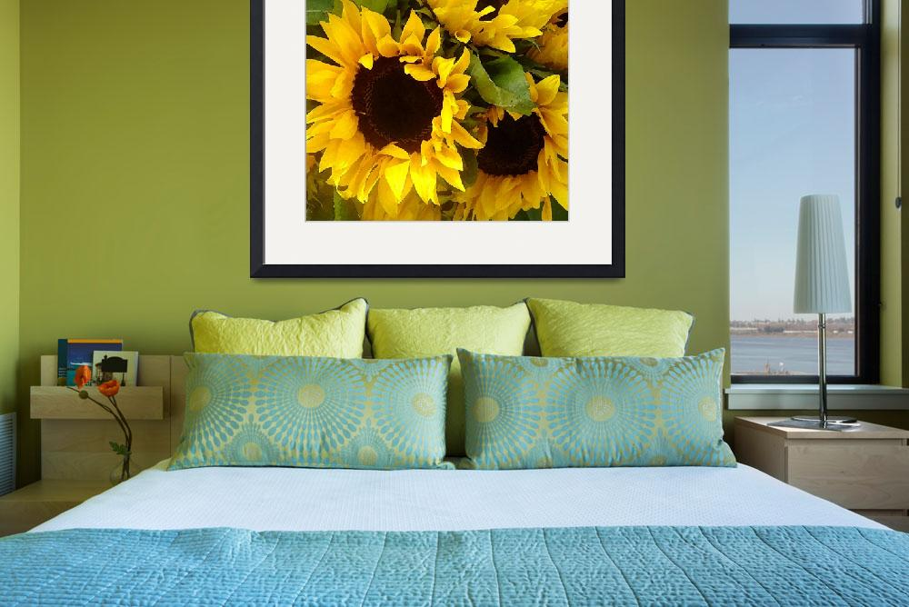 """""""Sunflowers&quot  (2009) by AmyVangsgard"""
