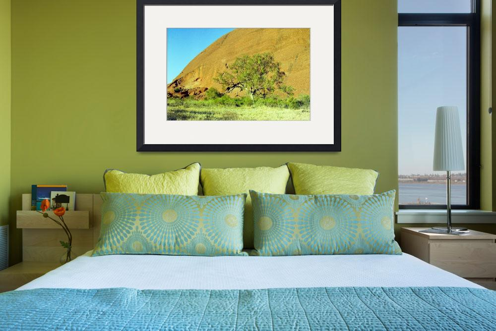 """Uluru Tree&quot  (2011) by biriart"