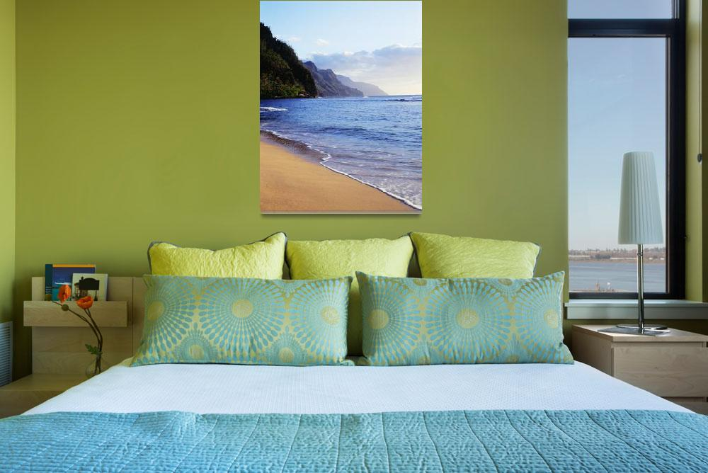 """Hawaii, Kauai, Napali Coast, Haena Beach, Late Aft""  by DesignPics"
