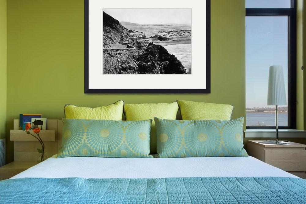 """""""Seal Rock House from Cliff house 1865, San Francis&quot  by worldwidearchive"""