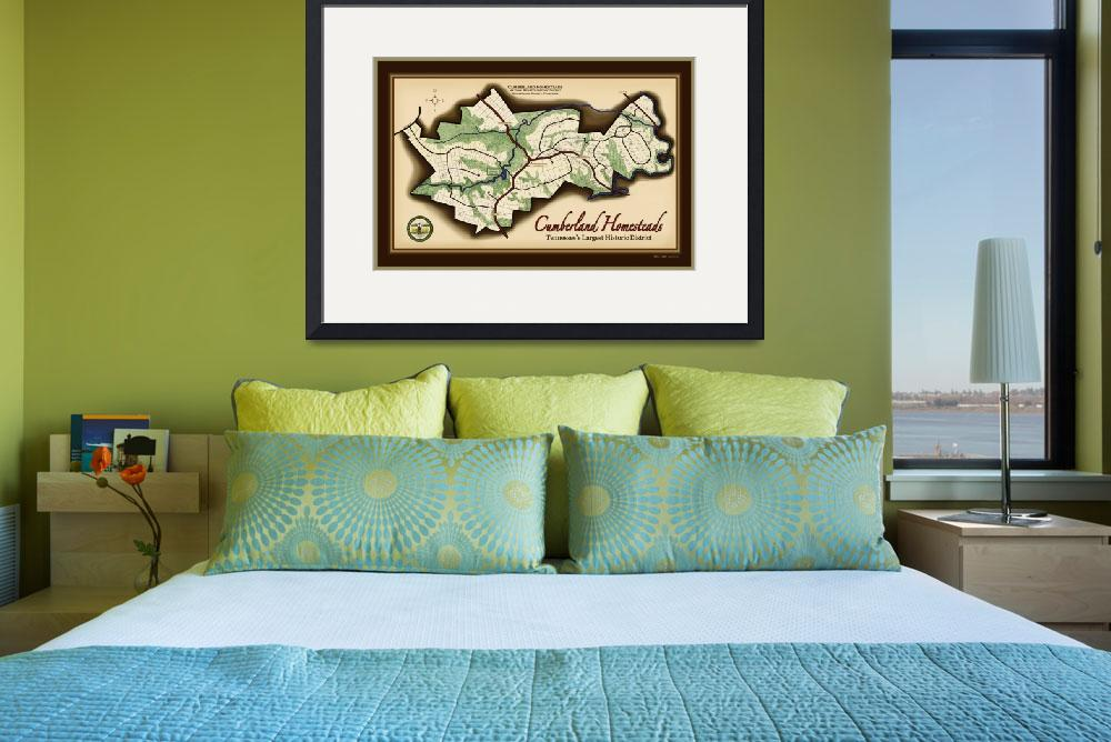 """""""Cumberland Homesteads Map&quot  (2011) by Vicki_S_Vaden"""