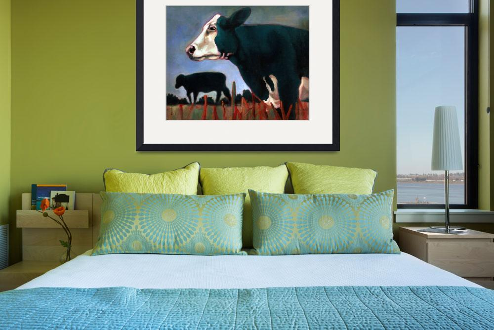 """""""Green Cows""""  by MichaelGodey"""