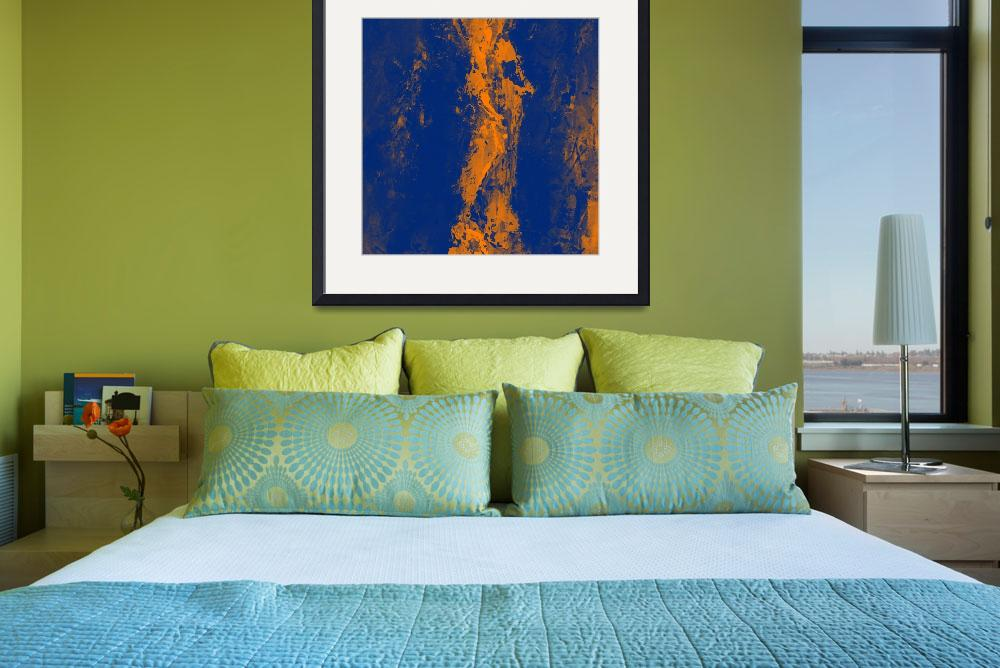 """""""Abstract blue orange""""  (2013) by EmericoStyle"""