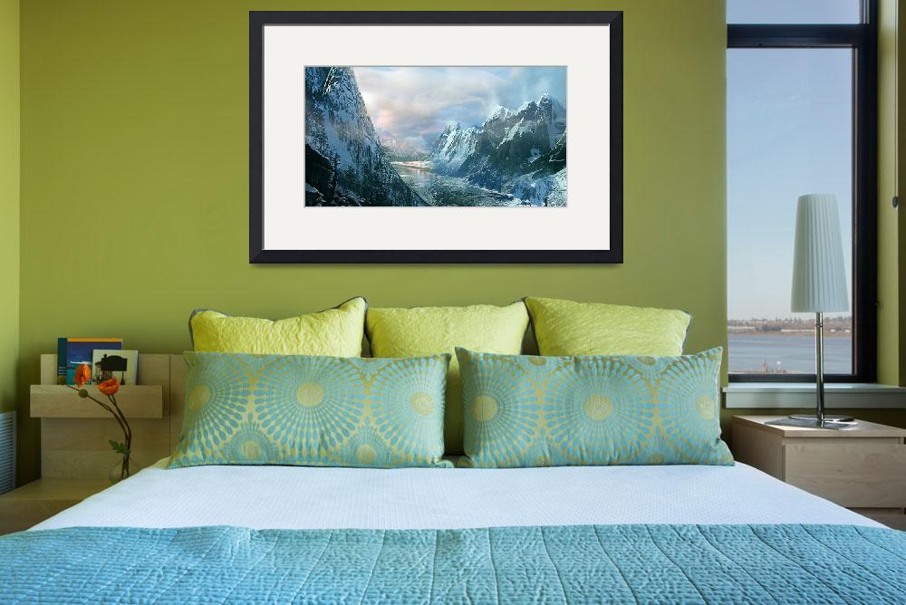 """""""Mountains at Winters Edge&quot  (2013) by MattForsyth"""