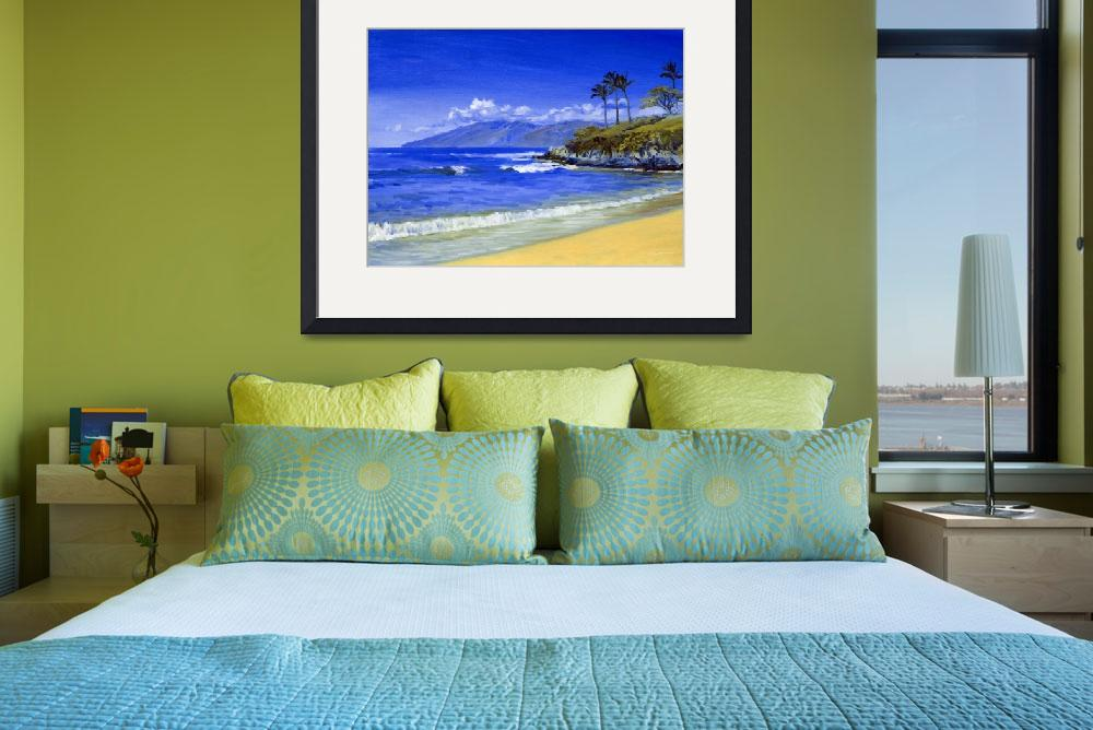 """Waves Breaking At Wailea, Maui&quot  (2010) by KeatingArt"