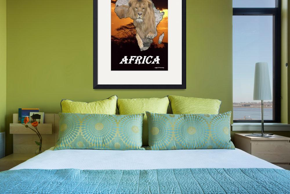 """""""africa lion&quot  by photo-design-online"""