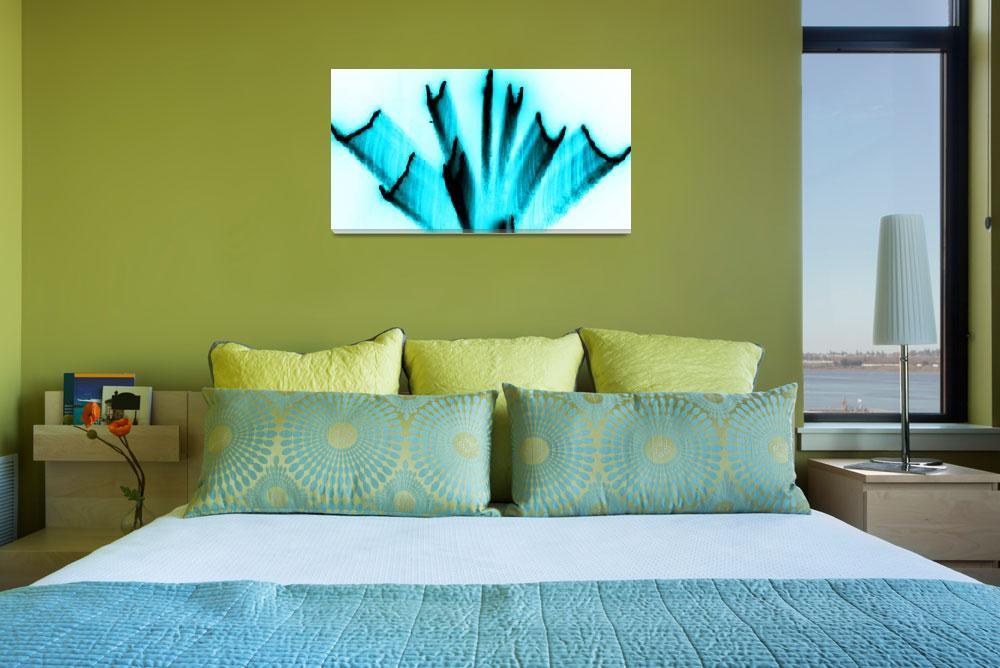 """""""Fire Art Fan Light Blue""""  (2011) by thespiritlift"""
