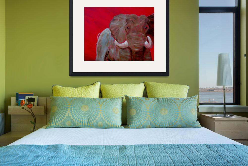 """""""Elephant in Red&quot  (2012) by dblakey"""