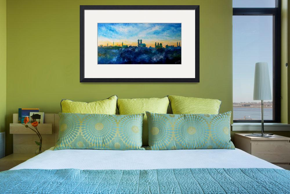 """""""Munich Skyline With Church Of Our Lady""""  (2009) by arthop77"""