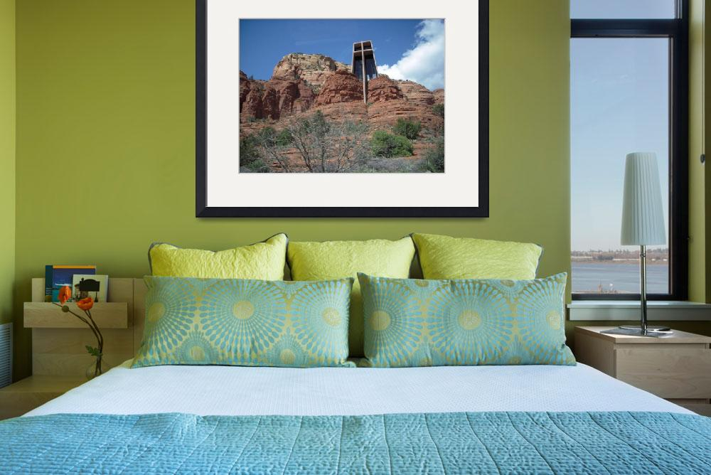 """""""Chapel of the Holy Cross Sedona&quot  (2006) by decal5"""