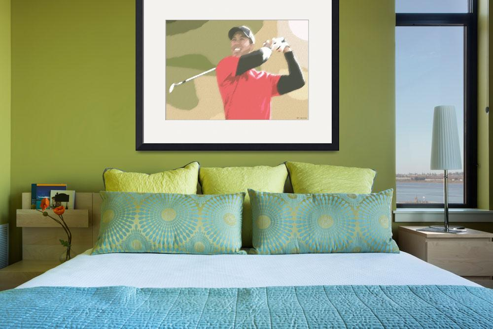 """Tiger Woods Golf Champion&quot  (2010) by leuchars"