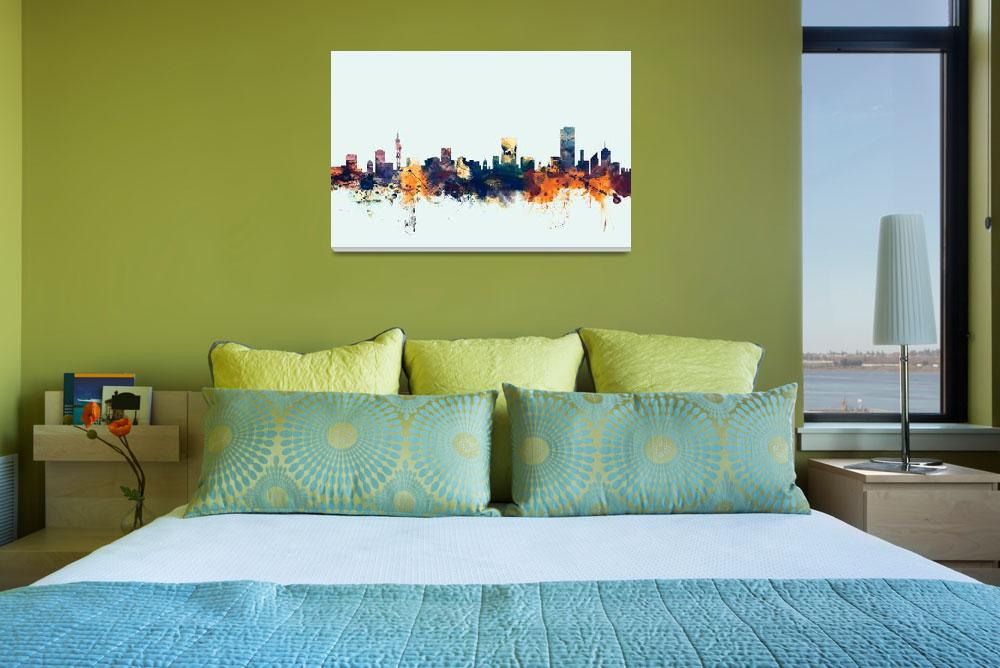 """Pretoria South Africa Skyline""  (2015) by ModernArtPrints"