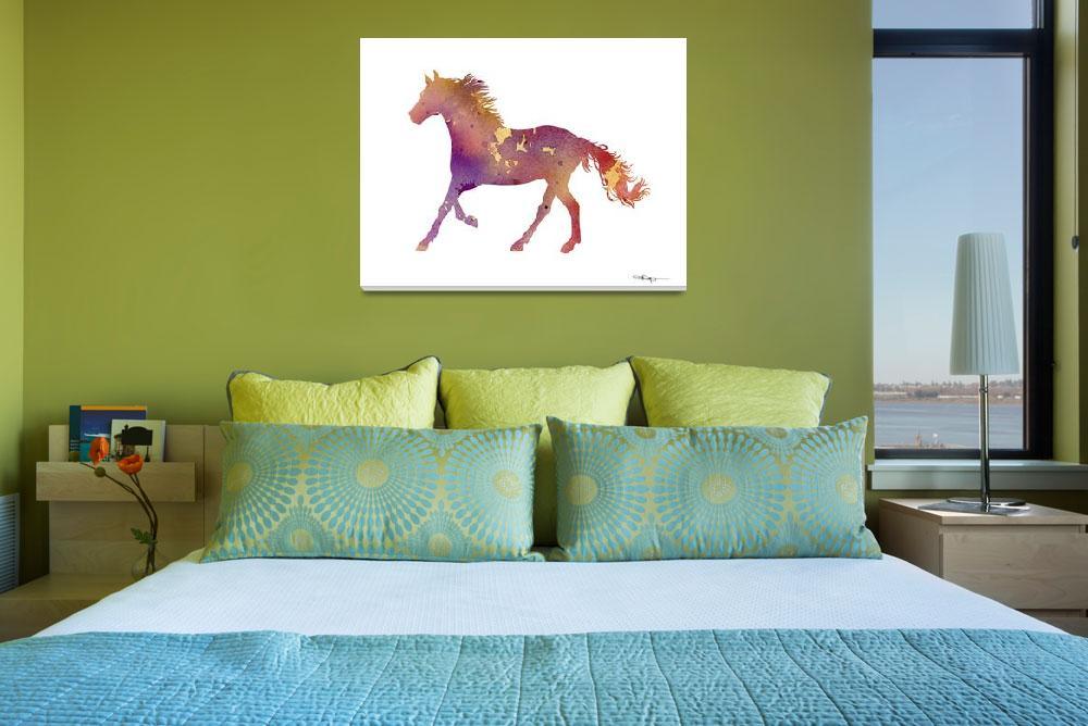 """Horse Running&quot  (2015) by k9artgallery"