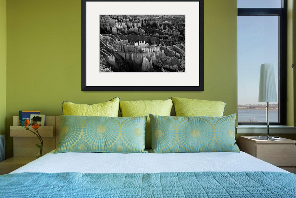 """""""Bryce Canyon in Black and White&quot  (2009) by lightningman"""