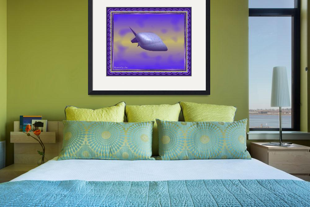 """""""Unidentified Flying Object Framed&quot  (2013) by stephenthedigitalartist"""