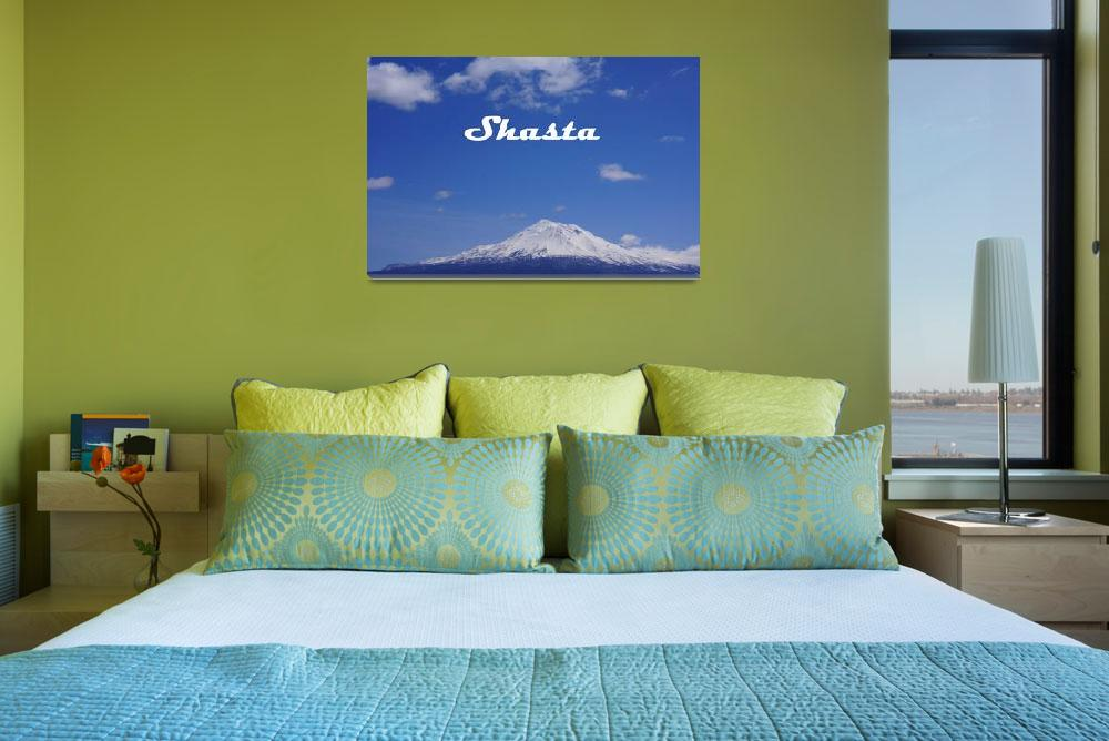 """SHASTA scenic Landscape Mountain Art Prints&quot  (2014) by BasleeTroutman"