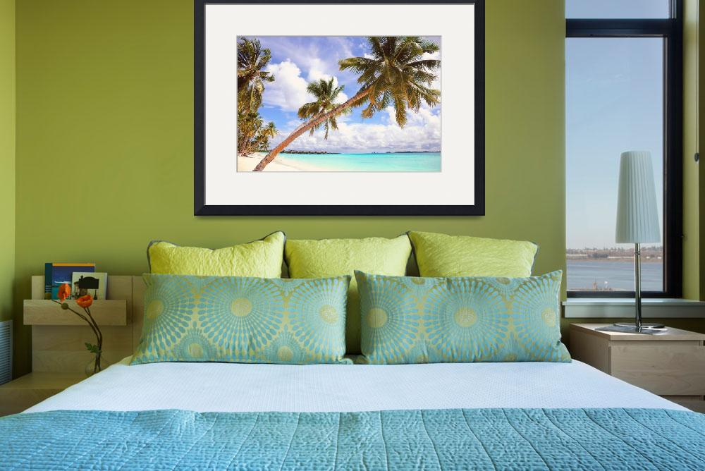 """""""Whispering Palms. Maldives&quot  (2013) by JennyRainbow"""