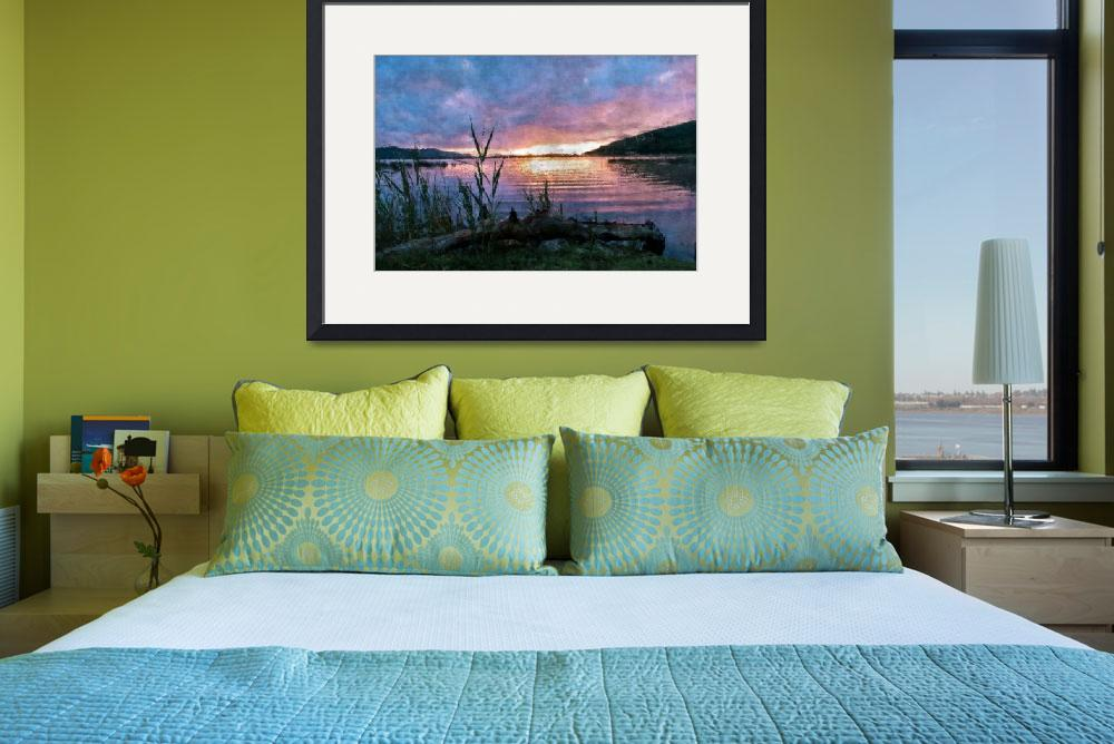 """""""Sunrise on the lake&quot  (2012) by StefanOlivier"""