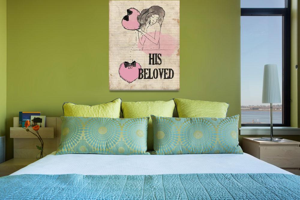 """beloved""  (2012) by smalldoorartprints"