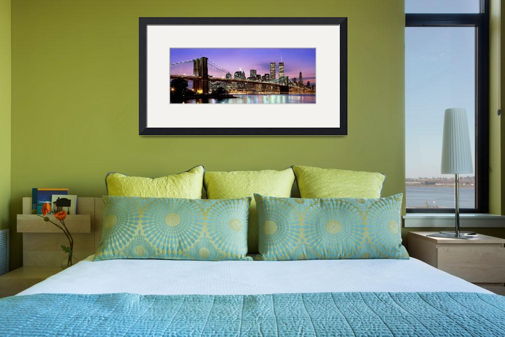 """Brooklyn Bridge, New York NY&quot  by IK_Stores"