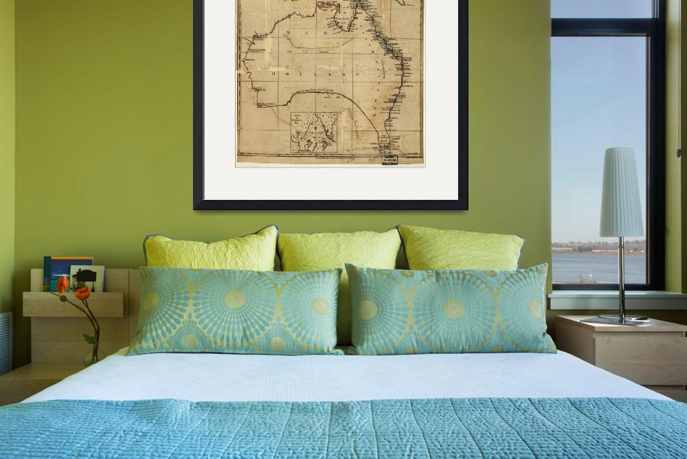 """Vintage Map of Australia (1700s)&quot  by Alleycatshirts"
