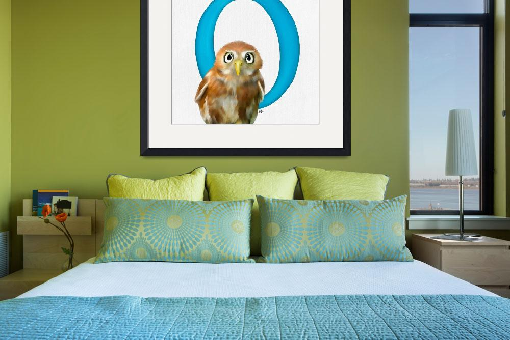 """""""o is for owl&quot  (2018) by tammyleebradley"""