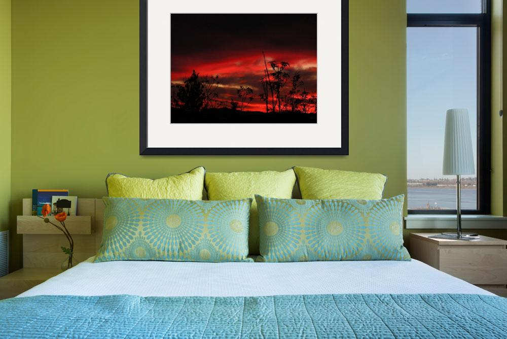 """""""Passion Red Sunrise""""  (2010) by Attentiongetters"""