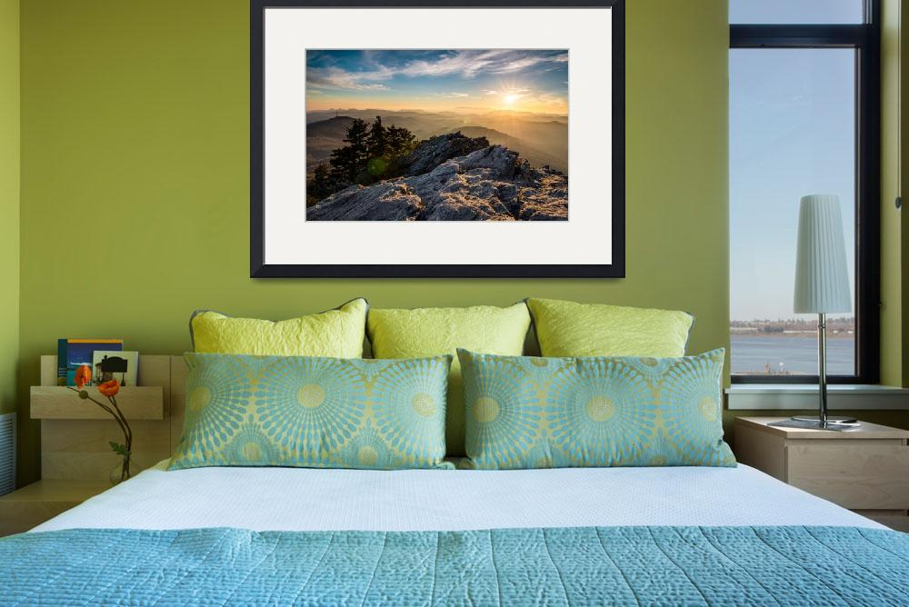 """""""Grandfather Mountain Sunset Blue Ridge Parkway Wes""""  (2013) by DAPhoto"""