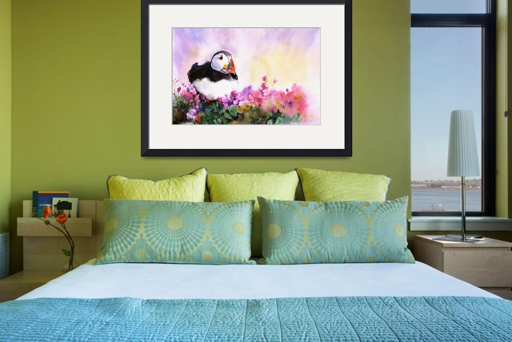 """""""Puffin Paradise""""  (2011) by MightyFineArt"""
