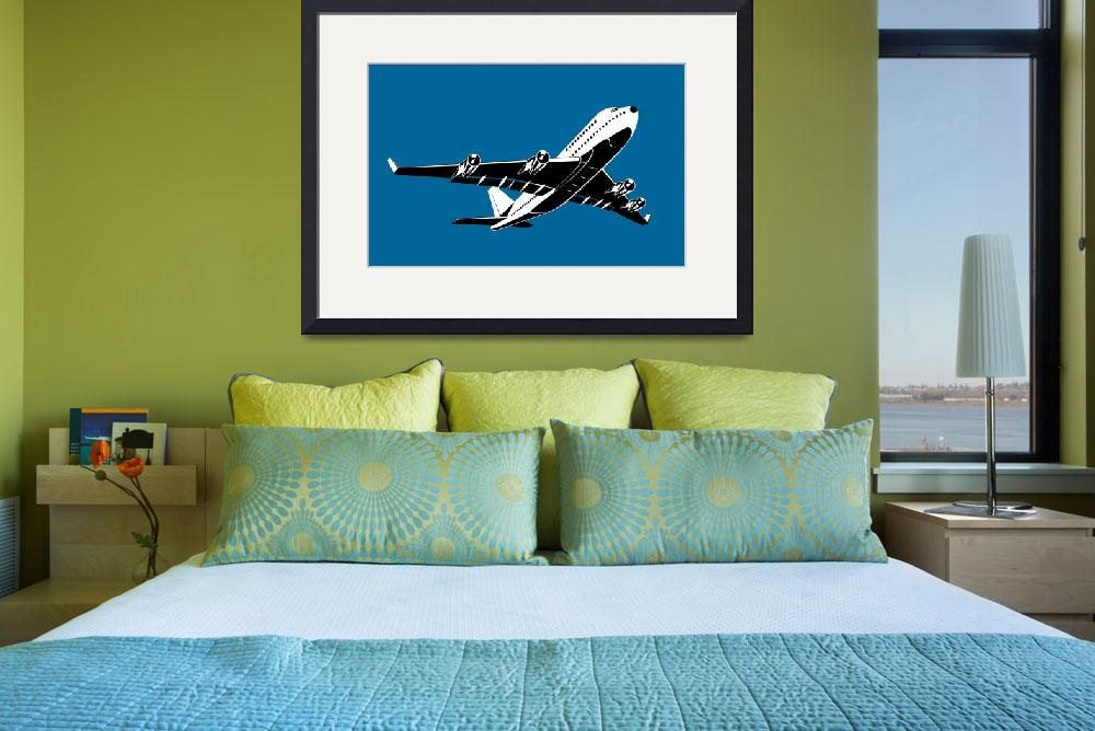 """""""commercial jet plane airliner flying&quot  (2013) by patrimonio"""