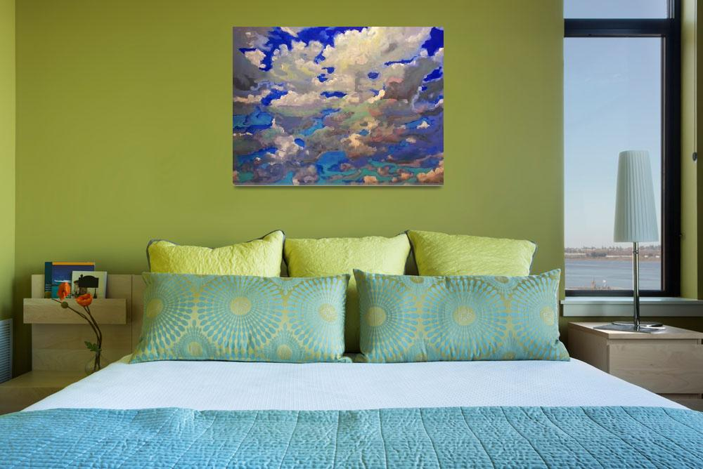 """""""Windy skyscape painting picture""""  (2013) by RDRiccoboni"""