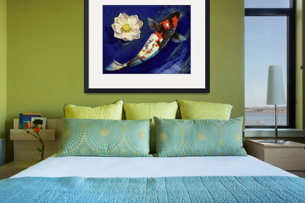"""""""Showa Koi and Lotus Flower&quot  by creese"""