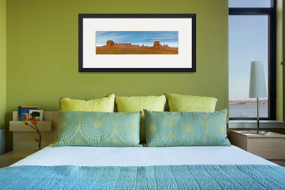 """""""Panorama of Monument Valley from Artist Point&quot  (2008) by robgerman"""