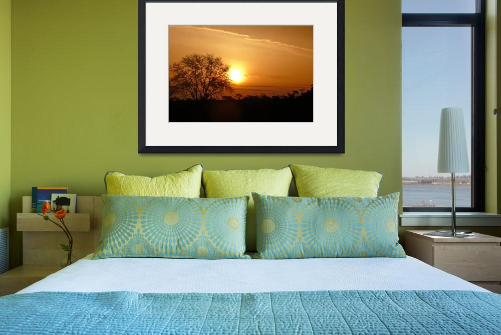 """Sunset in the Serengeti, Kenya&quot  (2007) by stockphotos"