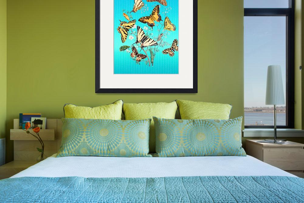 """""""Butterfly on Turquoise&quot  (2014) by artdeep"""