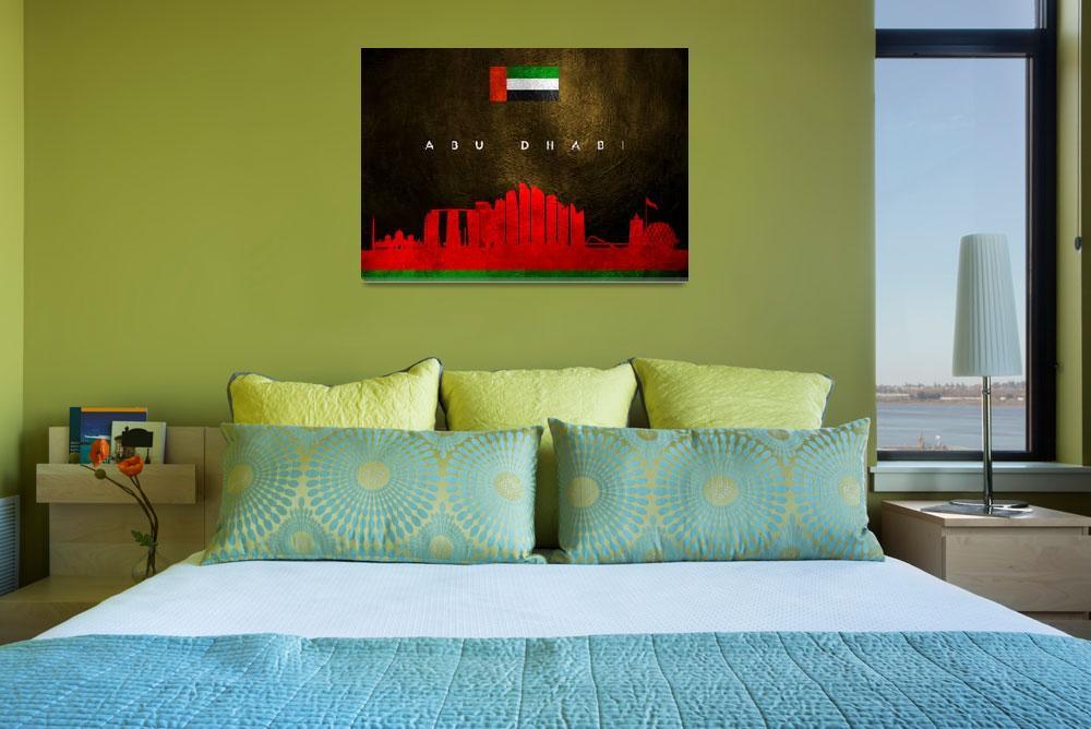 """Abu Dhabi United Arab Emirates Skyline""  (2019) by ABConcepts"