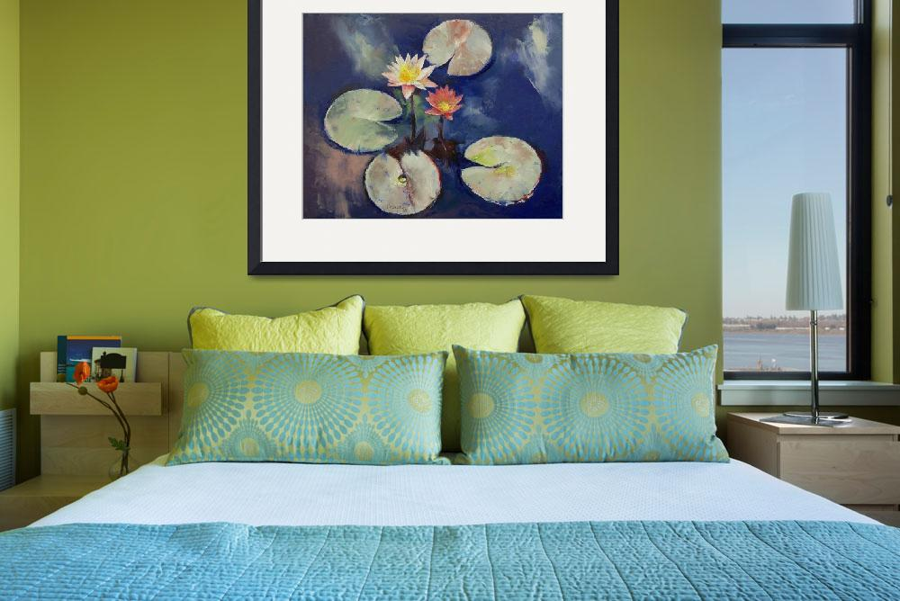 """""""Water Lily Painting&quot  by creese"""