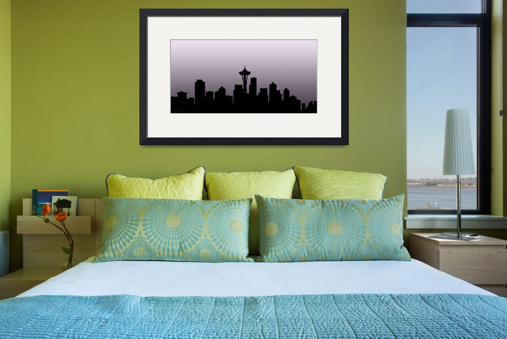 """Decorative Skyline Abstract  Seattle T1115X""  (2015) by MasArtStudio"