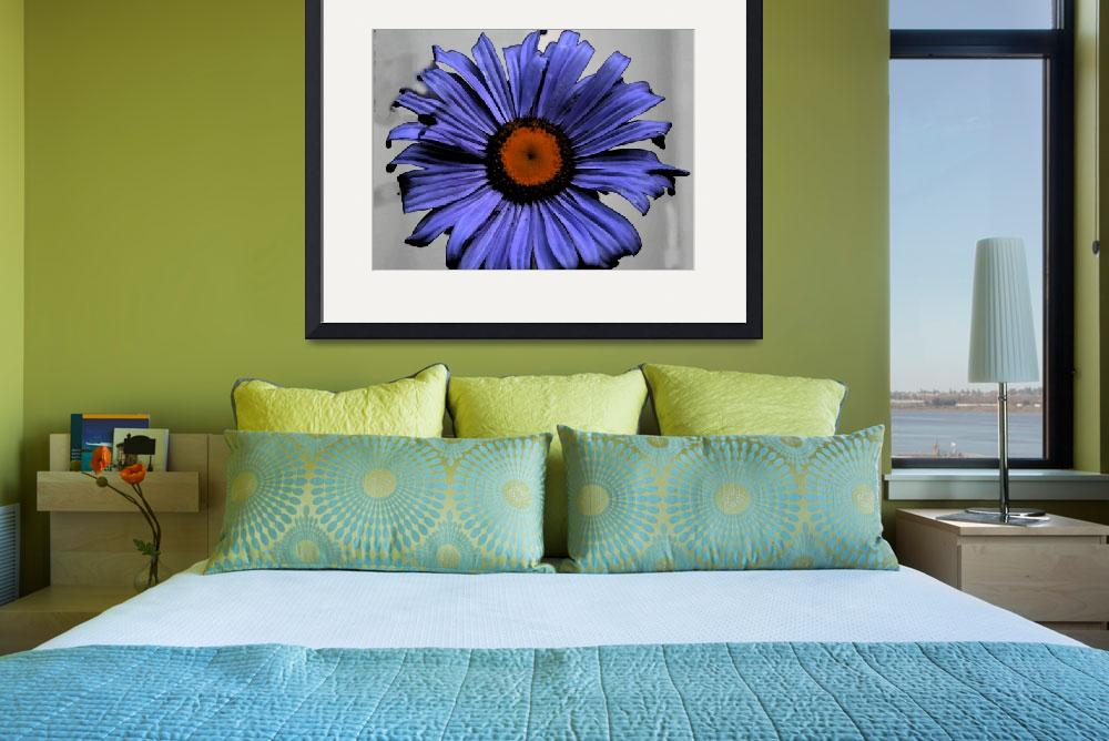 """""""Blue aster with water colour filter in photoshop""""  by Witchyborder"""