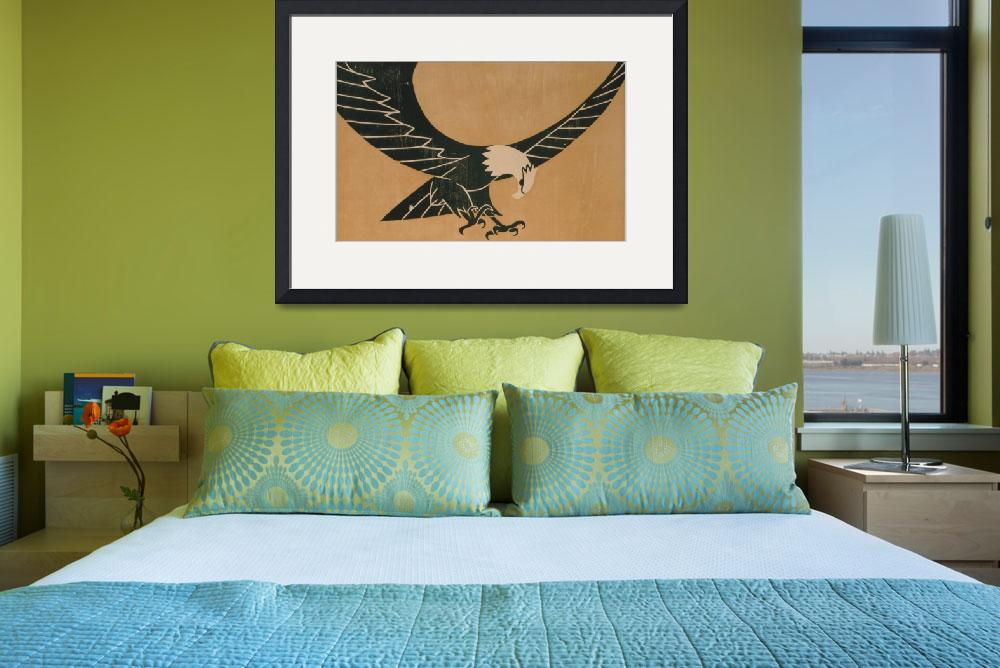 """""""Vintage Illustration of a Bald Eagle (1917)&quot  by Alleycatshirts"""
