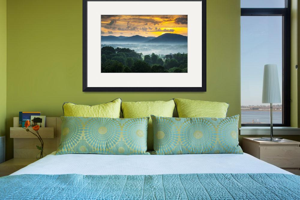 """Asheville NC Blue Ridge Mountains Sunset - Welcome""  (2012) by DAPhoto"