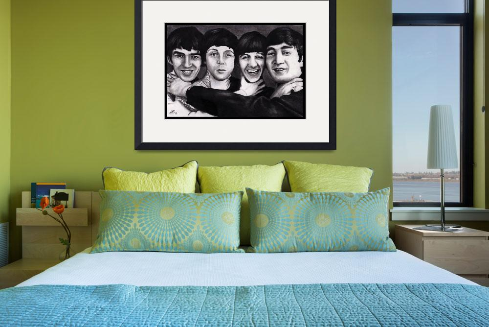 """""""The Beatles Drawing""""  (2011) by ArtByAlycia"""